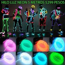 Hilo O Cable Tipo Luz Neon El Mas Largo De 5 Metros S 299