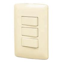 Placa 2 Interruptores Sencillos Y 1 De 3 Vias Voltech 48665