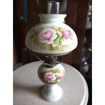 Quinque Decorativo Fabricado En Porcelana Y Decorado Floral