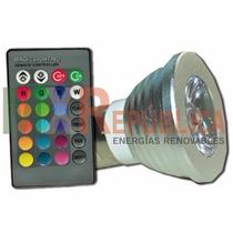 Luminaria 3w Rgb Incluye Control, Batería, Envío Domicilio