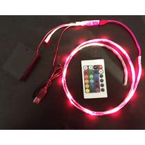 Kit Tira De Led Rgb Portatil Con Baterias Usb Control Remoto