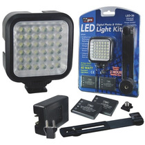 Vidpro Kit De Lámpara Led-36 Para Fotografía Y Video.