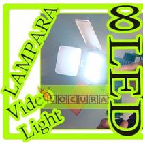 Lampara Profesional Video Reflex 8 Led Bateria Np F970 Dslr