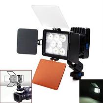 Videolampara De 8 Leds Con Pinacle 19 Ragalado Y Bateria 960