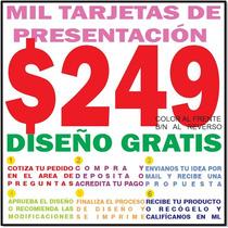 Millar Tarjetas De Presentación Color Y Bn. Diseño Gratis.