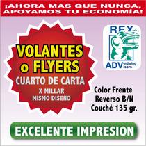 1000 Volantes Publicitarios 1/4 Carta Todo Color Flyers