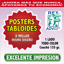 Tabloide Publicitario 1000 Carteles Posters Imprenta A Color