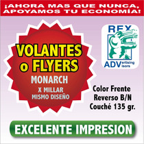 Volantes Flyers 11x19 Cms Full Color Imprenta Calidad