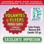 Flyers Volantes 1/2 1000 Presentacion Todo Color! Premium