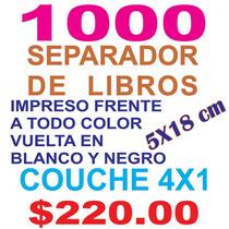 Separador De Libro Couche 300 Grs. 18x5 Cm Millar 4x1 Yokadi