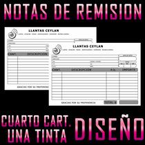 Millar Notas De Remisión Comandas Cuarto De Carta Sencillas