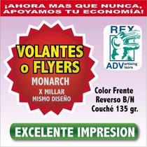 Mil Volantes Publicitarios Monarch Todo Color Flayers 11x19