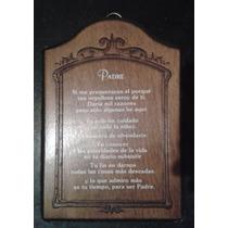 Reconocimiento A Papa Placa De Madera