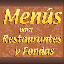 Impresion De Menús Para Restaurante, Fondas, Bares,comedores