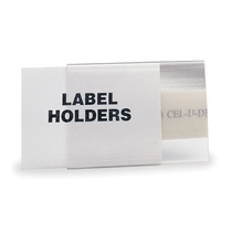 Soporte Etiquetas Perfil Tubular Claro Magnético Claro 1 X 6