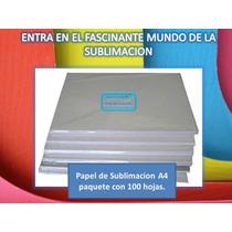 Papel De Sublimacion A4 Premium Alto Calibre