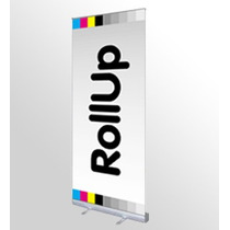 Roll-up De .85x2.00 Y .80x2de Aluminio Incluye Bolsa $390.00