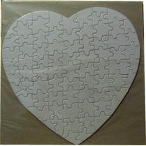 Rompecabezas Sublimable Corazón 19.2x18.9cm Sublimacion 10pz
