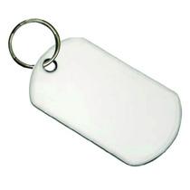 Placa Militar Dogtag Aluminio Sublimable Blanco 2caras 7pzas