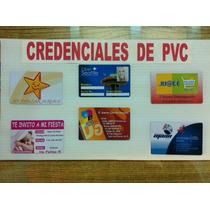 Impresión De Credenciales Ó Gafete De Pvc A Todo Color !!!