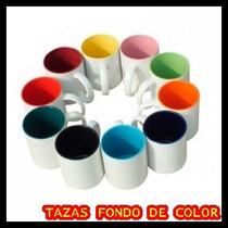 Tazas Listas Para Sublimar Con Fondo De Color