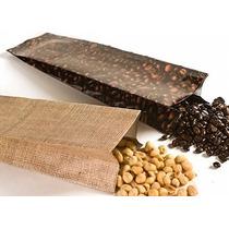 Paquete De Bolsas Para Cafe Impresa Sella Con Calor 500 Gr