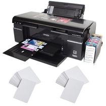 Impresora Epson T50 Y Bandeja Para Imprimir Credenciales Pvc