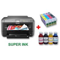Impresora Epson Wf 7110 Tabloide Y Cartuchos Con Sublimación
