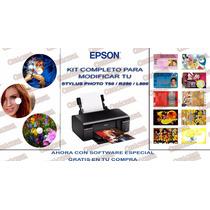 Epson T50 Modificada 120 Discos 400 Credenciales Pvc X Hora