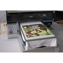 Impresora De Playeras Dtg R3000 Con Tinta Blanca Cama Plana