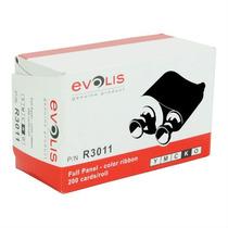 Ribbon Evolis R3011 Ymcko, Para 200 Impresiones Pebble