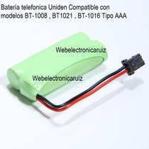 Bateria Telefonica Para Uniden Bt-1008 / Pila Uniden Bt-1021