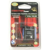 Batería Para Teléfono Inalámbrico 2-2/3aa Master