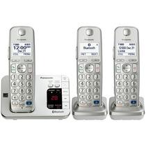 Kit 3 Telefonos Panasonic Bluetooth Inalambricos Tge263s