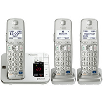 Kit 3 Telefonos Panasonic Bluetooth Inalambricos Tge263s Msi