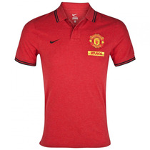 Manchester United Playera Tipo Polo Marca Nike Talla Media