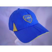 Gorra De Boca Juniors Original En Azul Logo Bordado