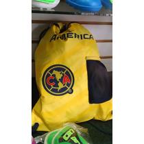 Bolsa Tipo Morral Con Correas Del Club America Futbol Soccer