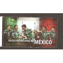 Timbre Correo Selección Mexicana Fútbol Rafa Chicharito