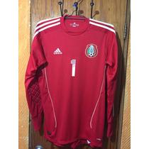 Jersey De Portero Adidas Seleccion Mexicana Guillermo Ochoa