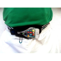 Adidas Cangurera Iphone 4 Y 5 Slim Run Waist Bag Black Hm4