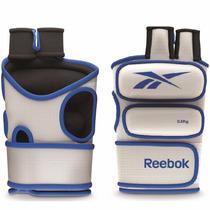 Reebok Guantes Gym Con Peso Medio Kilo Fitness Gris Azul Gri