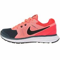 Mujer Tenis Nike Zoom Winflo Runnig Correr Pink Salmon Black