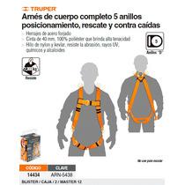 Arnes Cuerpo Completo 5 Anillos 14434 Truper
