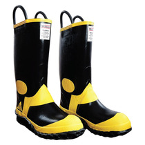 Botas Para Bombero Caballero Negro/amarillo 28 Croydon