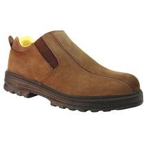 Zapato De Trabajo Café 6 Eee Deslizante Ten-pac