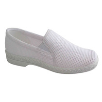 Zapato De Trabajo Blanco 26 Damas Deslizante Settia
