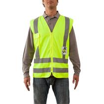 Chaleco Seguridad Con Reflejante Alta Velocidad Upf 25