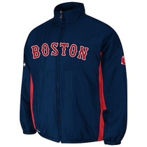 Excelente Chamarra Majestic Oficial De Juego Boston Red Sox