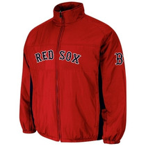Chamarra Majestic Oficial De Juego Boston Red Sox Mediana